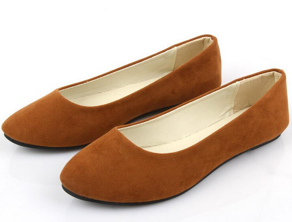 d9cc2b9fa 20 цветов 2016 мода Мягкая обувь для женщин плоские туфли круглого toe  ежедневные повседневная обувь Плюс