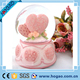 Large Pink Heart Insert Love Message Snow Globe New