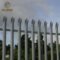 Heavy Galvanized Steel Picket Fence Uganda Palisade Fencing Panels