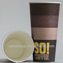 big sizes hot drink take away 8oz to 20oz SO! coffee paper cup