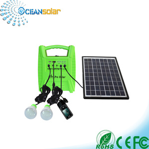 Ocean Solar Factory Manufacturer Portable Mini Design Home Lighting Solar Power System With Solar Panel