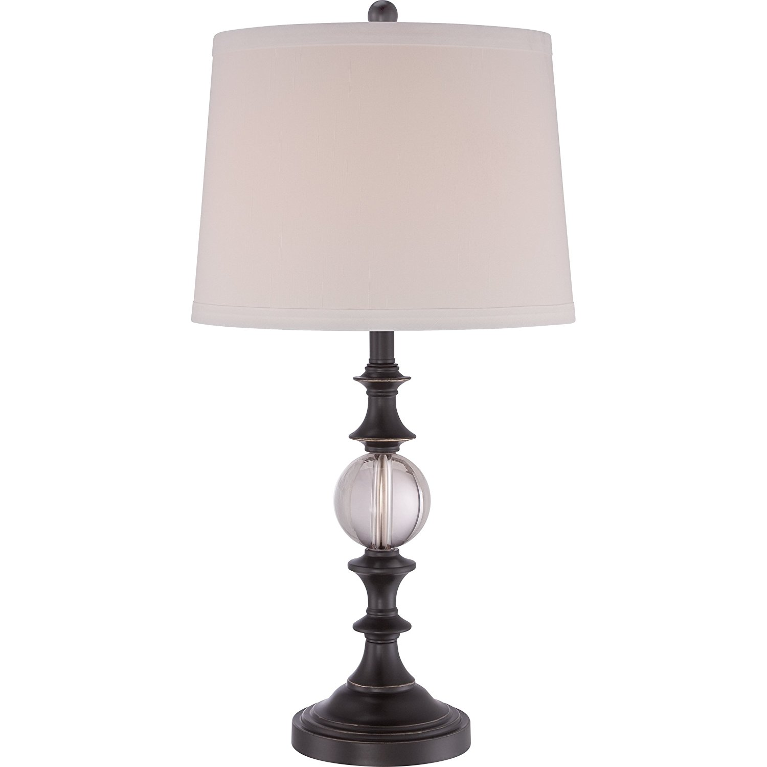 Quoizel Q1634TPN 1-Light Quoizel Portable Lamp Table Lamp in Palladian Bronze