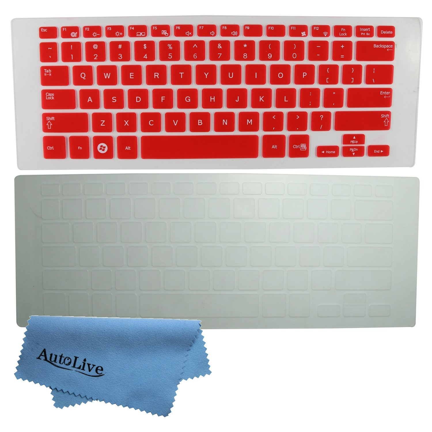 AutoLive 2-Pack Translucent Silicone Gel Keyboard Protector Cover Skin for 13.3-Inch Samsung ATIV Book 7/9 Lite NP905S3G NP915S3G NP740U3E series, such as NP905S3G-K01IL, NP905S3G-K02US, NP905S3G-K02UK, NP915S3G-K01US, NP915S3G-K02US, NP915S3G-K04US, NP915S3G-K05US, NP740U3E-K01US, NP740U3E-A01UB