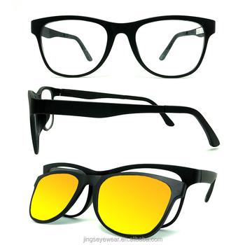 8ca755ff0f9 2016 custom optical Eyeglasses Frames Magnetic Clip On Polarized Driving  Sunglasses