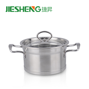 Private Label Clear Glass Cooking Pot Combination Lid Stock Pots