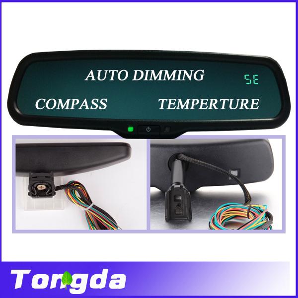 Car Rear View Mirror Temperature Rearview Mirror Anti