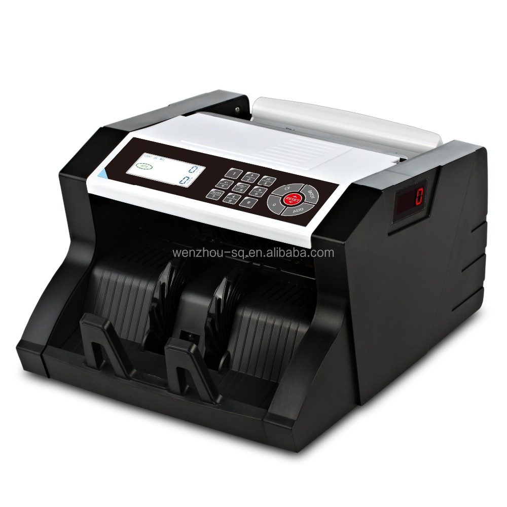 The Lastest Design Money Counter with Counterfeit Note Detection Double Display Cash Counting Machine for Multi-Currency