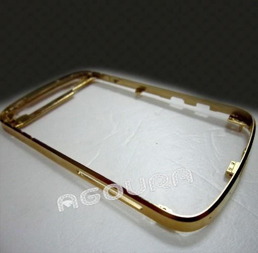 High quality 24ct gold bezel housing for blackberry Q10, gold frame for Blackberry Q10
