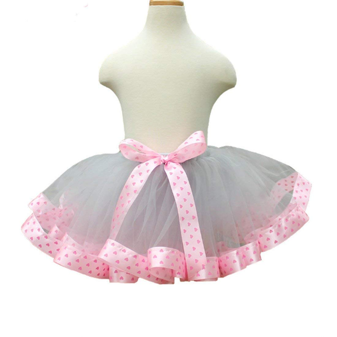 ef5551df4a0 Get Quotations · SHENLINQIJ Girl s Colorful Layered Ruffle Pink Tutu Tiered  Ballet Dance Skirt