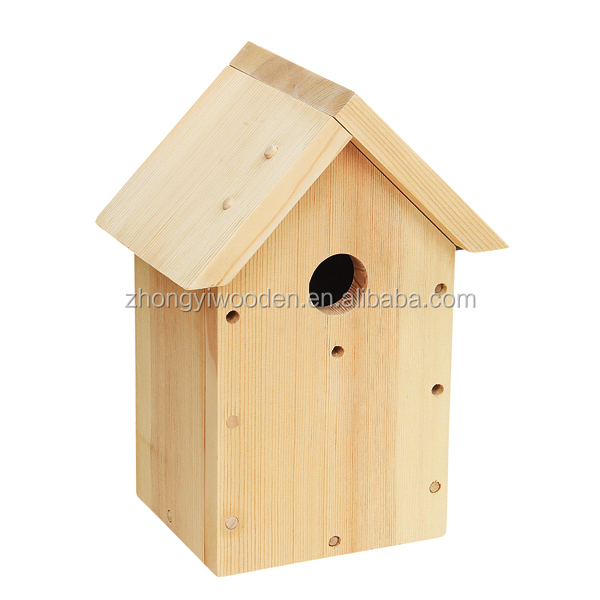 wholesale factory FSC Garden Wood Hanging Outdoor patio Nest Birdhouse Cage hotel Yard