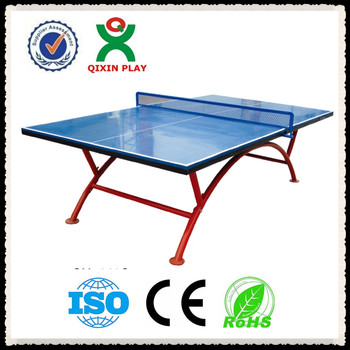 Waterproof Outdoor Table Tennis Table Best China Supplier Cheap Portable Ping  Pong Table QX 141G