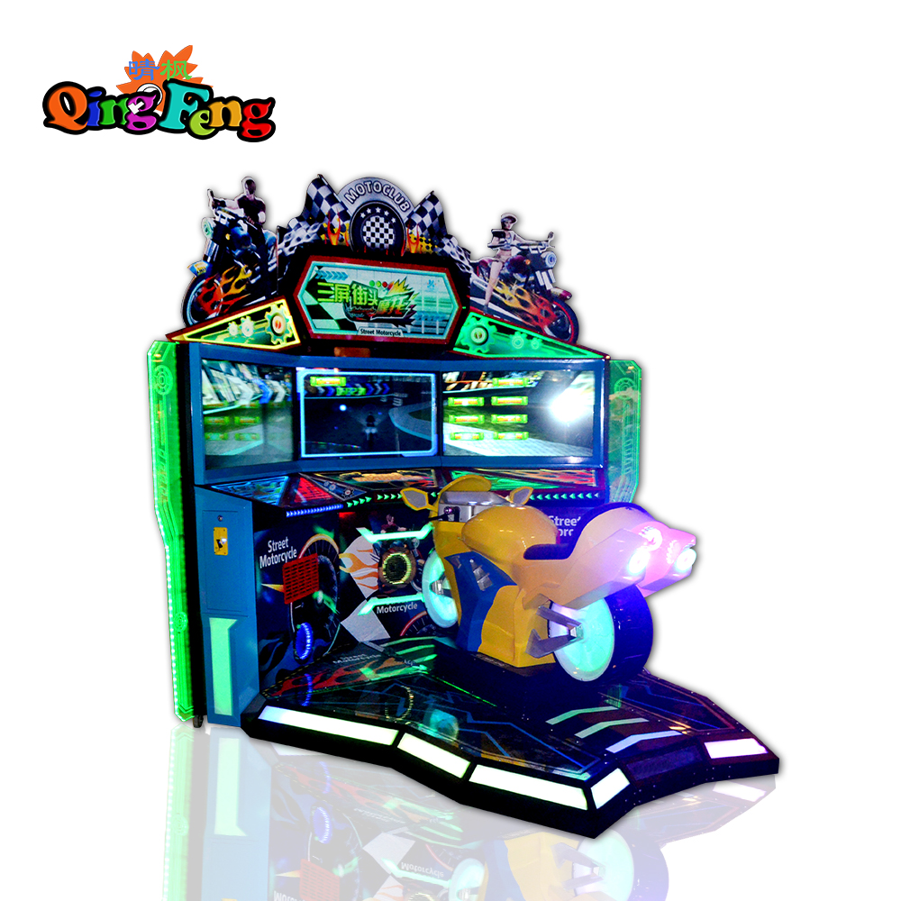 QingFeng New Products Amusement park racing go kart 42'' inches single play world racer F1 simulator