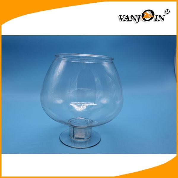 Bpa free 4l clear pet plastic round fish tank mini for Small plastic fish bowls
