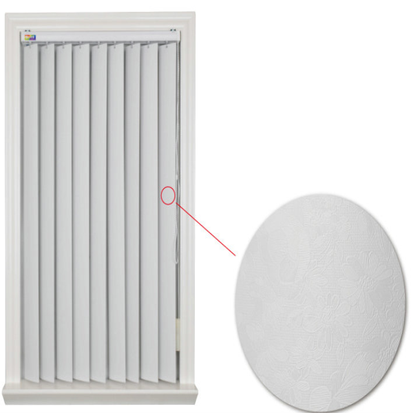 China supplier chains manual PVC white smooth vertical blinds for wholesale