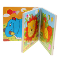 Free Shipping Cartoon Wooden Puzzles Books Educational Learning Toys Children Kids Toy FCI