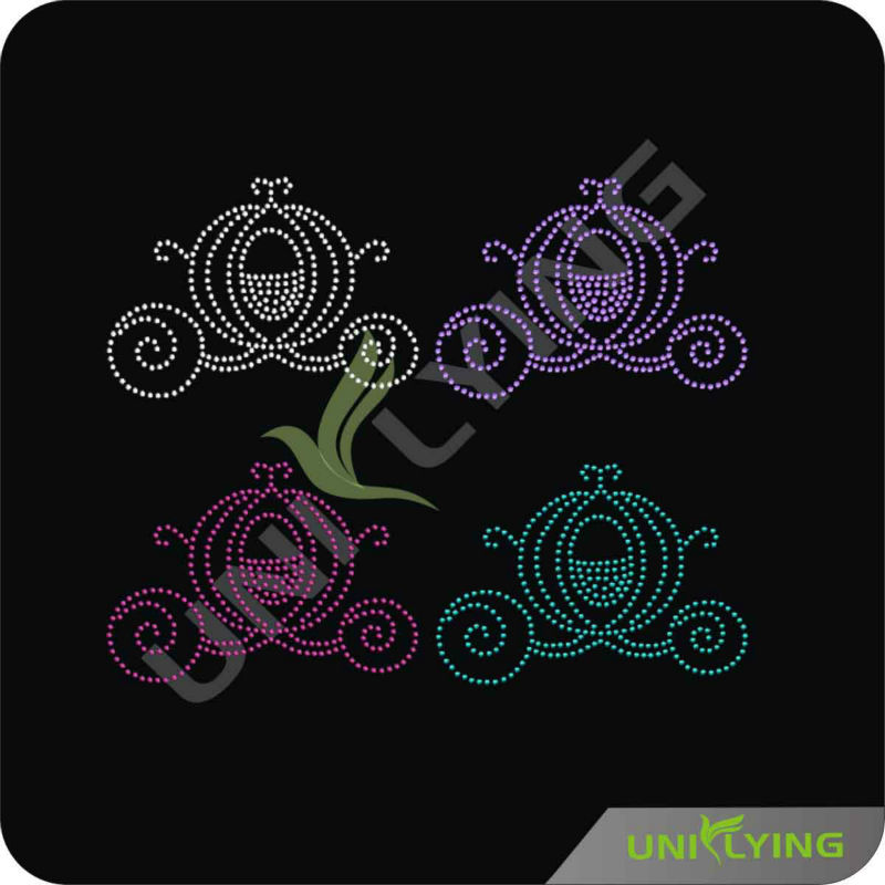 Swirl design hotfix rhinestone facotry hotfix motif for clothing