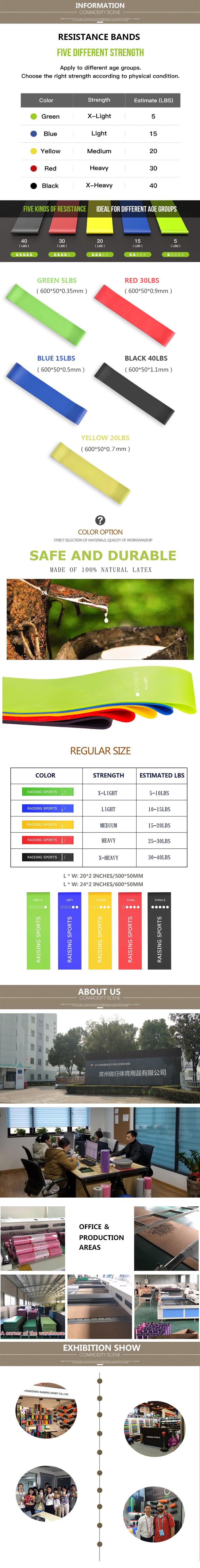 Individuelles logo mini rosa rot latex stretch fit grüne fitnessraum fit set von 5 ankle straps für übung elastische yoga widerstand bands