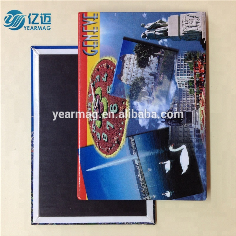 Fridge Magnet Type Promotional Refrigerator Magnets Made of Metal Tin Plate for Tourist Souvenirs