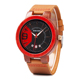 genuine leather de longe quartz watch unisex classic quartz wooden watches