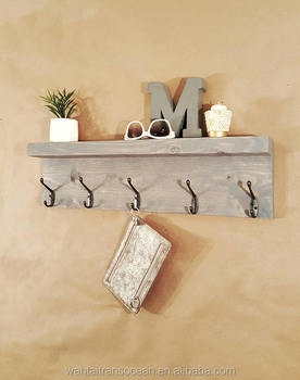 Modern Entryway Bathroom Wall Hooked Fixture Reclaimed Wood Shelf Storage And Organization Mail Key Holder 2019 Home Decor Sign