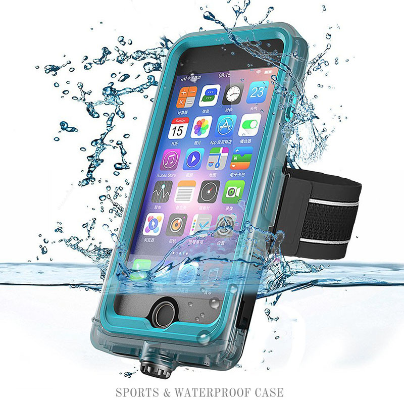 For iPhone 7 Waterproof Case, Sports Easy carrying case, Underwater Waterproof Case, Dustproof, Snow Proof, Shockproof