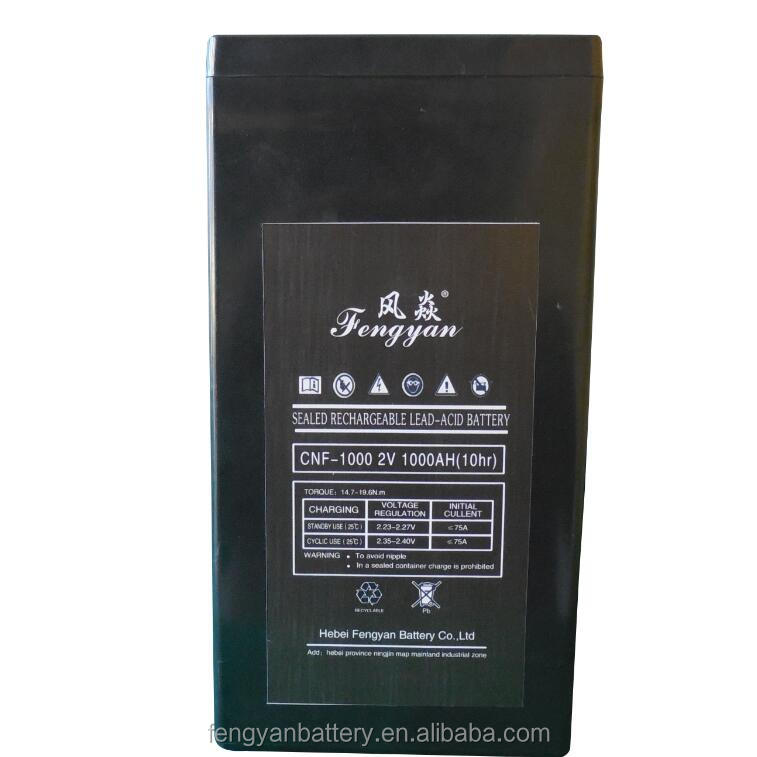 2V 1000AH deep cycle rechargeable solar power plant battery AGM battery for India Market