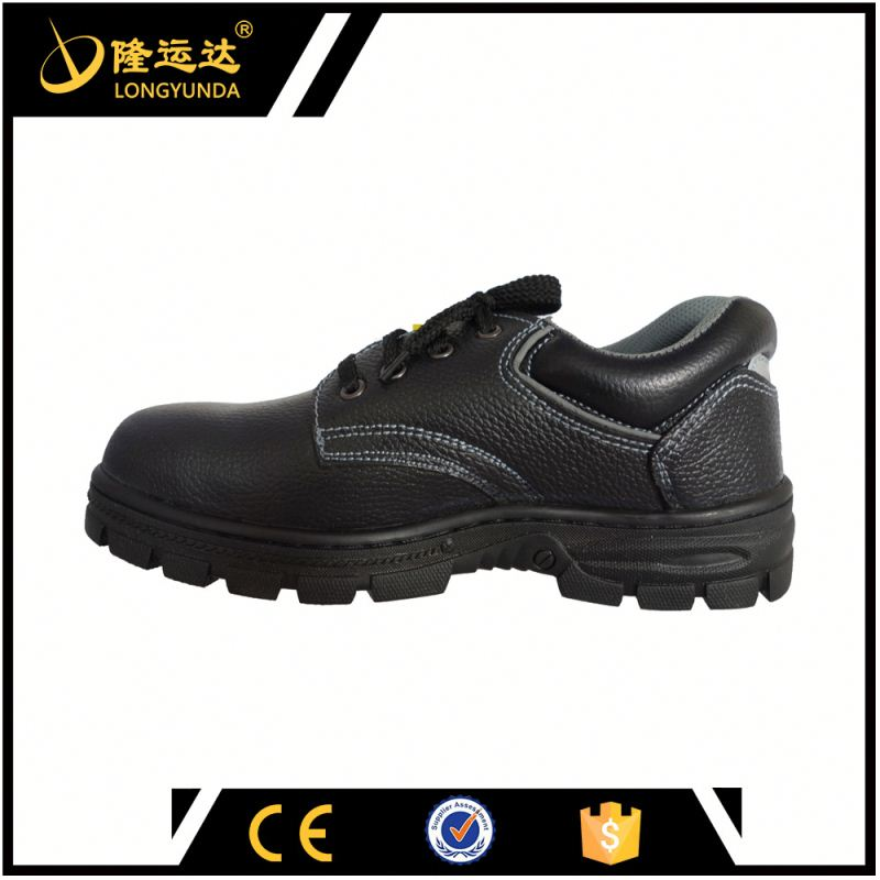 Low Cut Embossed Leather Upper Rubber Outsole Hunting Safety Boots