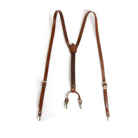 Good quality Genuine leather mens leather suspender