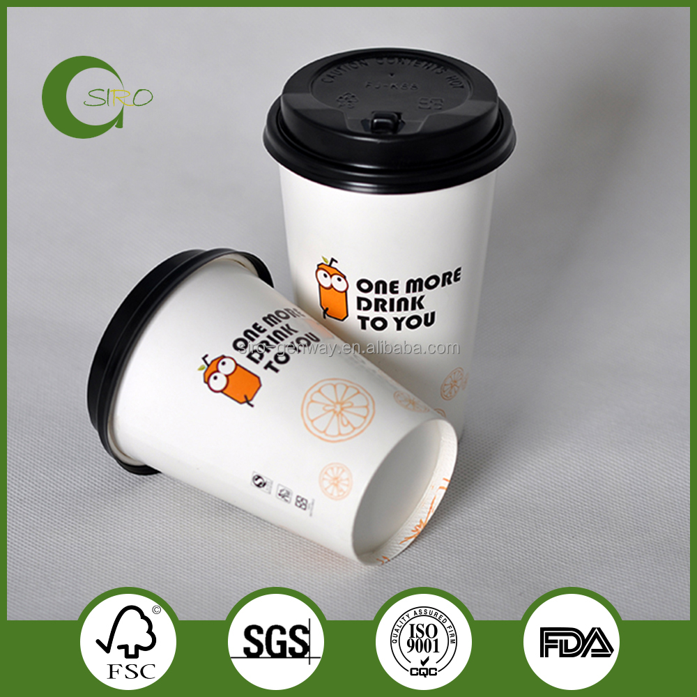 Eco-friendly disposable paper cups,wholesale hot drink paper cups