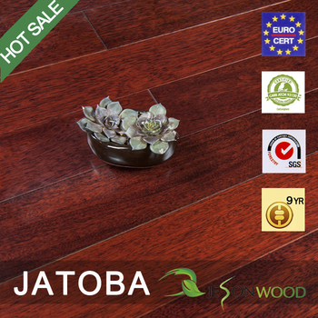 Solid Jatoba Brazilian Cherry Hardwood Flooring Mahogany Color Natural