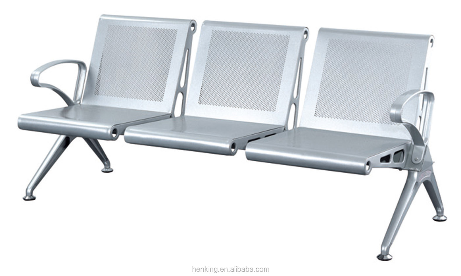 Henking Public Metal Seating Bench Airport Chairs H916 3p