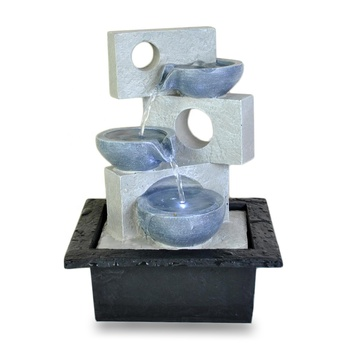 Rectangular water fountain tabletop abstract fountain