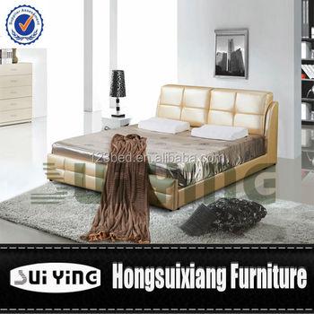 Golden Leather Bed : S248 Golden Leather Buy Bedroom Furniture Online - Buy Buy Bedroom ...