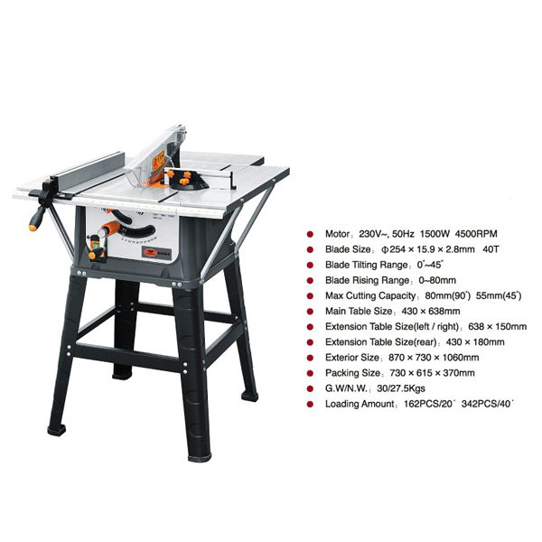 Professional sliding wood scroll table saw