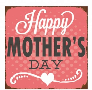 Metal Sign Embossed Mother's day Wall Art for Wall Decor
