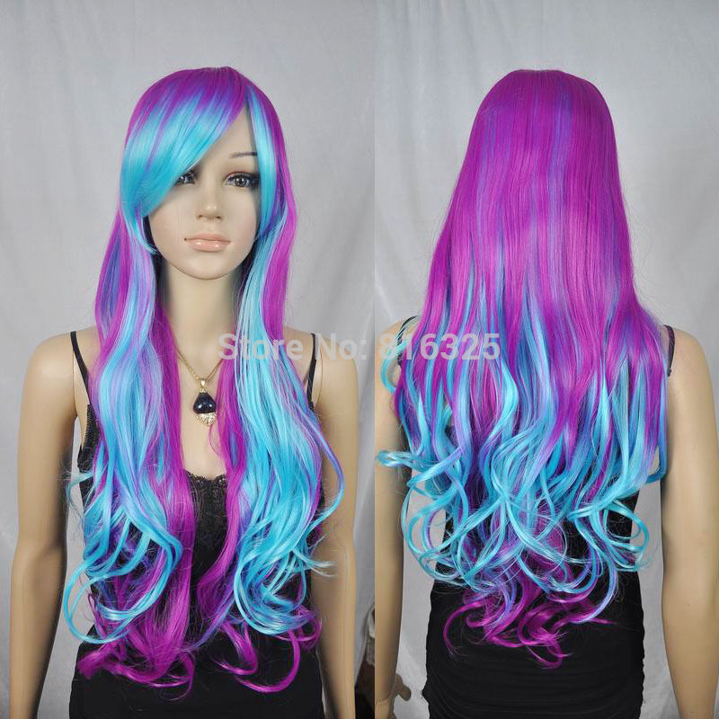 blue and purple wavy - photo #44