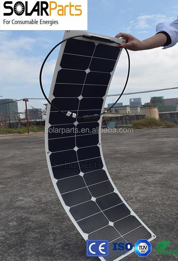 50w Etfe Narrow Long Best Quality Semi Flexible Sunpower