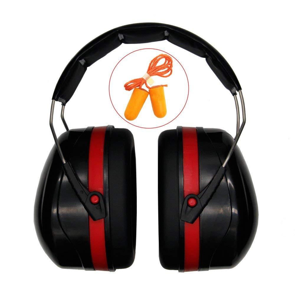 9518a03e67a Get Quotations · Safety Ear Muff Ear Protection,Adjustable Folding Ear  Defenders Maximum Noise Cancelling Headphones with Ultra