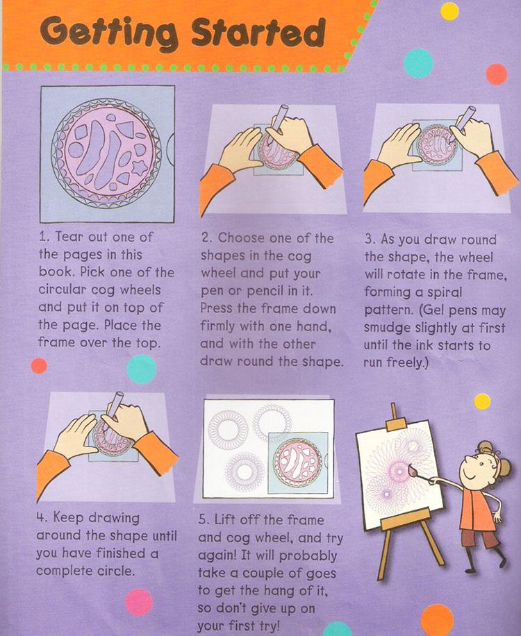 مجموعة أدوات الرسم الفنية استنسل السنبوغراف الرائعة للأطفال هدايا أدوات مكتبية لعيد الميلاد