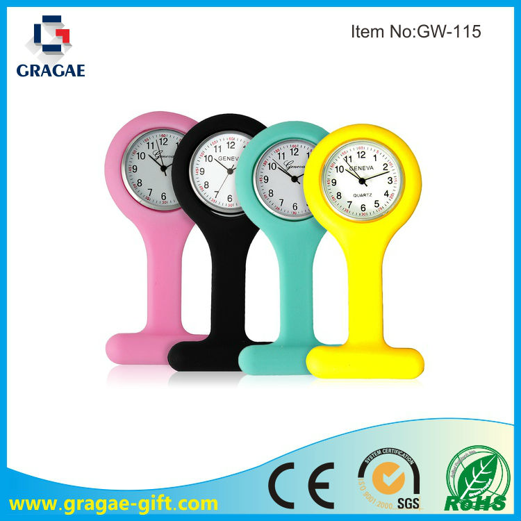 Hot sell cheap silicone nurse watch and clock