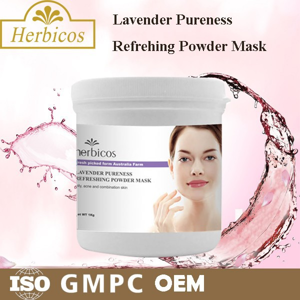 organice lavender pureness and refreshing powder mask