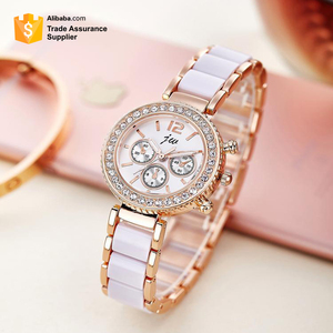 Rhinestone steel belt ladies watch female models imitation ceramic quartz women's watch fashion fashion high-end watches