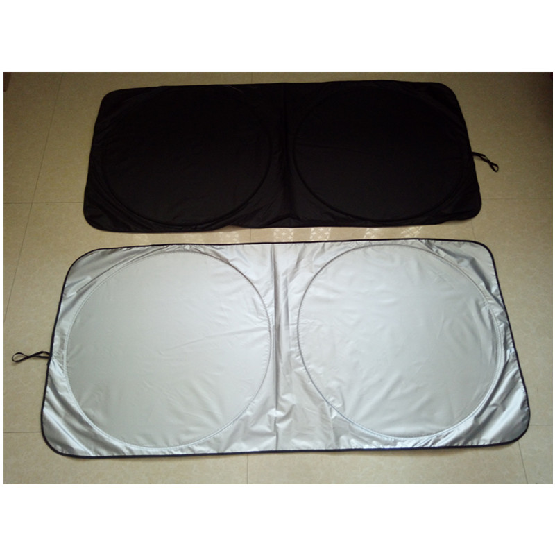 Twin Circle Sunshade Silver Spring Front Sun Shade Car