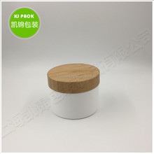 Friendly Bamboo Cosmetic Jar ,Plastic Jar Wooden Lid Cosmetics 100g ,70g ,50g Glass Jar with Bamboo Lid