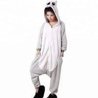 Soft flannel wholesale adult onesie with drop seat cheap adult onesie