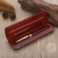 New Customized Cheap Wood Ball Pen with Box Novelty Stand Pen Printed Logo