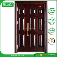 China Product 8 Panel Exterior Security Steel One And Half Doors Mom And Son Doors