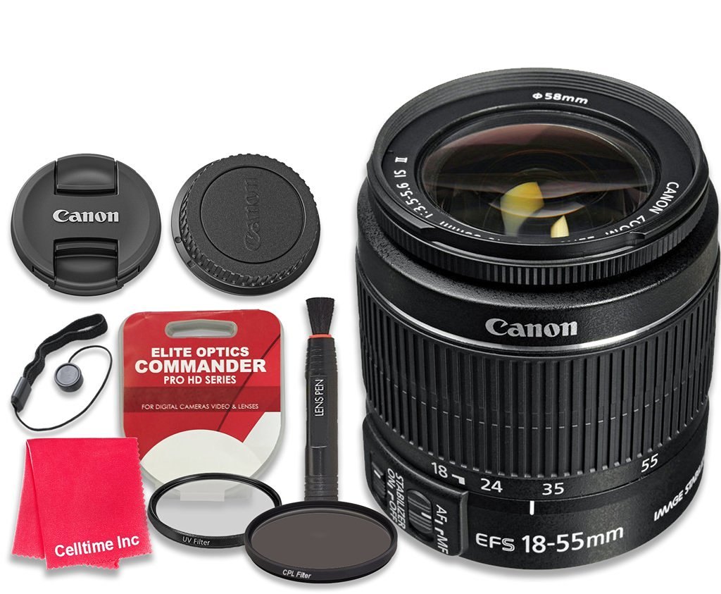 Canon EF-S 18–55mm f/3.5–5.6 IS II Lens - International Version