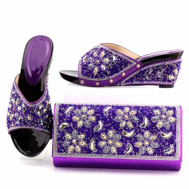 wedding women lady wholesale matching italian shoes Sinyafashion set dress and bag 8zpqw