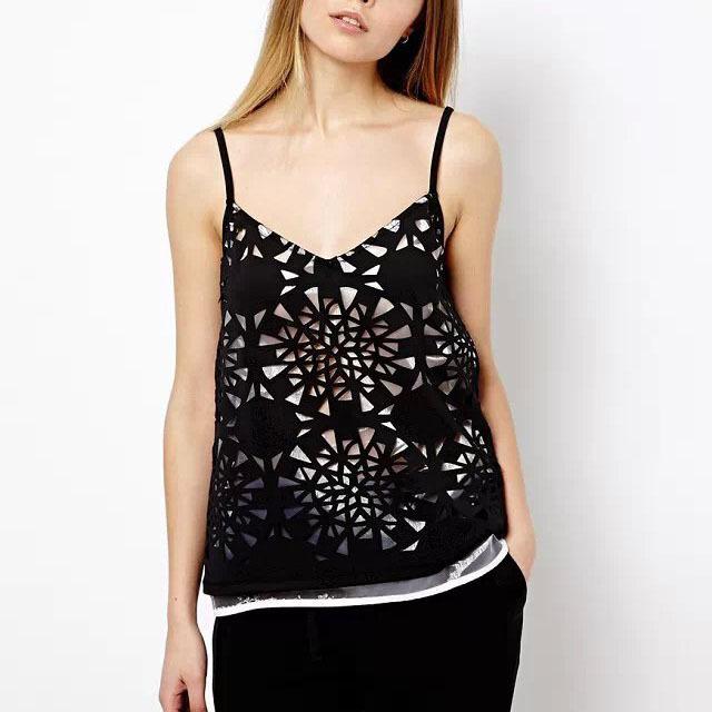 dee9b7175487ad Get Quotations · New Fashion Women Chiffon Sling Tops 2015 Summer Sexy Slim  Sling Tops Elegant Floral Print Shirt